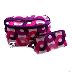 NEW CLINIQUE Floral Makeup Travel Cosmetic Bag with handle