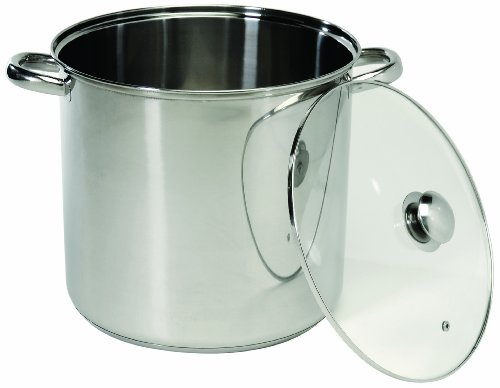 ExcelSteel 549 Stainless Steel Stockpot with Encapsulated Base, 12-Quart