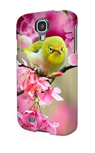 S40724 Lovely Japanese White Eye Bird Glossy Schutzhülle Tasche Case Cover For Samsung Galaxy S4