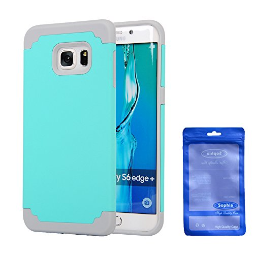 Galaxy S6 Edge Plus Case, Sophia Shop 2 in 1 Hybrid High Impact Defender Dual Layer Case Soft TPU+Hard PC Rubber Bumper 360 Degree Protective Cover For Samsung Galaxy S6 Edge +