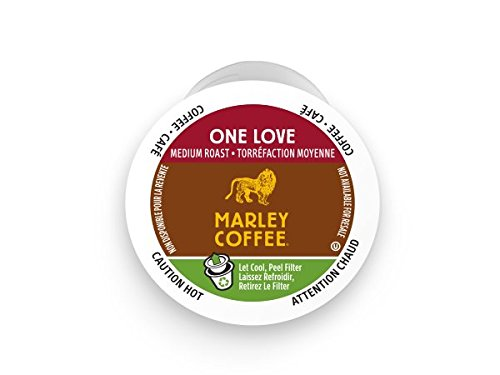 Marley Coffee, One Love, 100% Organic Ethiopia Yirgacheffe, Medium Roast, 24 Single Serve RealCups (Coffee K Cups 100 compare prices)