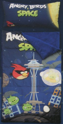 Best Buy! Angry Birds Space Slumber Bag with Pillow