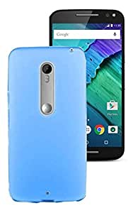 Unistuff ( TM ) Matte Hard Case Back Cover for Motorola Moto X Play (Sky Blue)