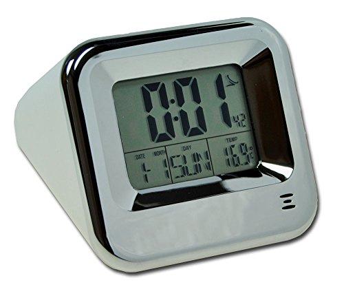 Funkuhr inkl. Batterie mit Thermometer Wecker Tischuhr Datum Wochentag Uhr