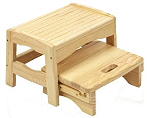 Amazon Com Safety 1st Wooden Two Step Stool Toilet