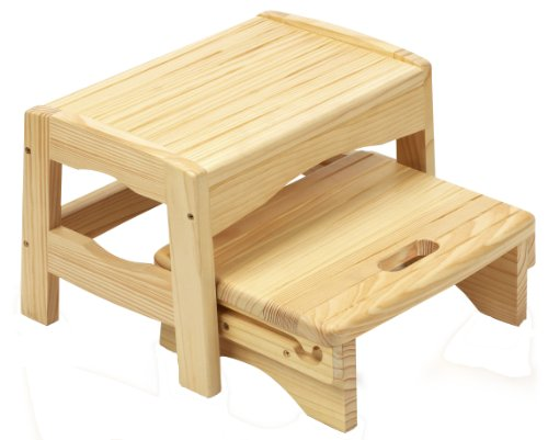 Safety 1St Wooden Two Step Stool front-943263