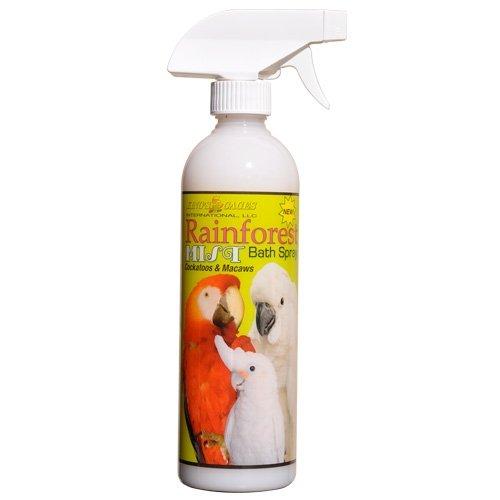 KINGS CAGES Rainforest Mist Bath Spray for Cockatoos & Macaw 17oz.