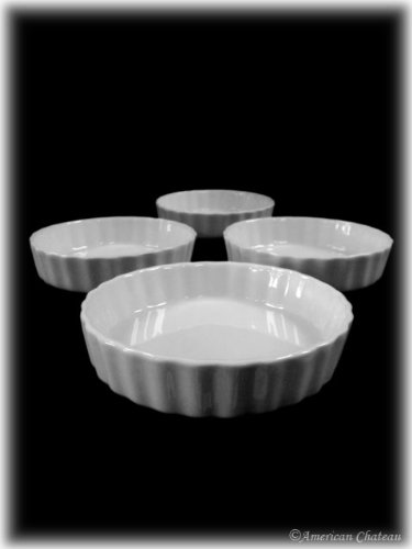 Set of 4 White Large Porcelain 8 oz Oven Safe Tart Souffle Dishes 24 bingo daubers colorful large 4 oz 120ml six different colors