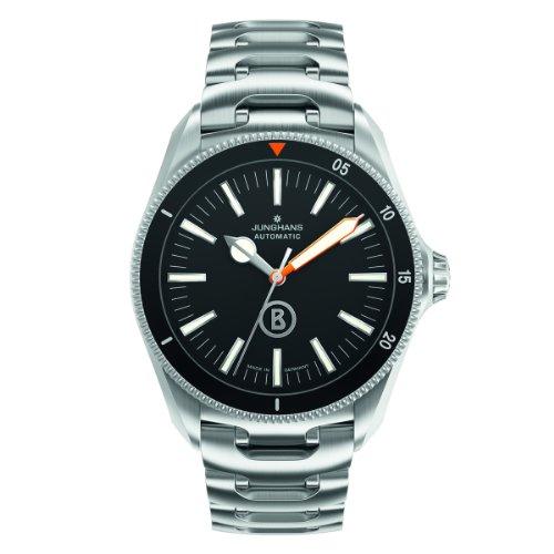 Junghans Uhren Bogner Willy Blue Automatlc 027/3211.44 - Reloj para hombres, correa de acero inoxidable color plateado