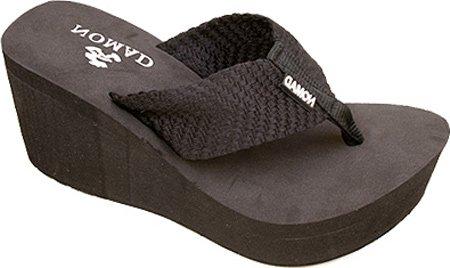 Nomad Footwear Women'S Tide High Platform Thong,Black,6 M Us front-695196