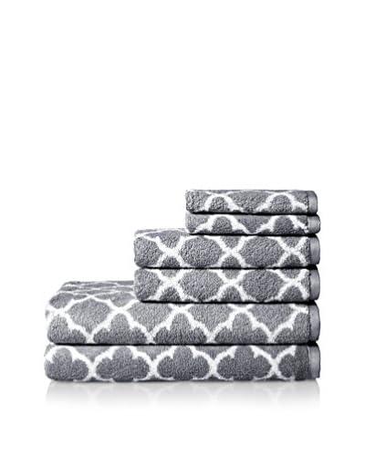 Espalma Irongate 6-Piece Towel Set, Silver/White