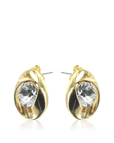 Crystal from Swarovski Pendientes Transparente / Dorado