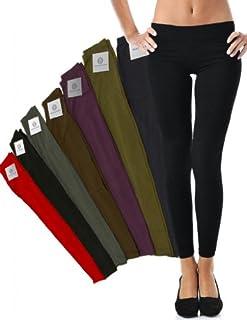 Mato & Hash Women's 90/10 Cotton Spandex Tights Pant Leggings Black 2XL
