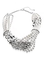 Per Una Faux Pearl Glass Knot Necklace