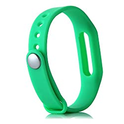 Heartly Wrist Strap Band Belt Wristband Silicone Wearable Case Cover For Xiaomi Mi Band - Light Green