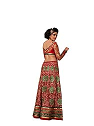 Red Net And Silk Lehenga Choli