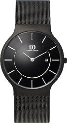 Danish Designs Men's IQ64Q732 Stainless Steel Black Ion Plated Watch