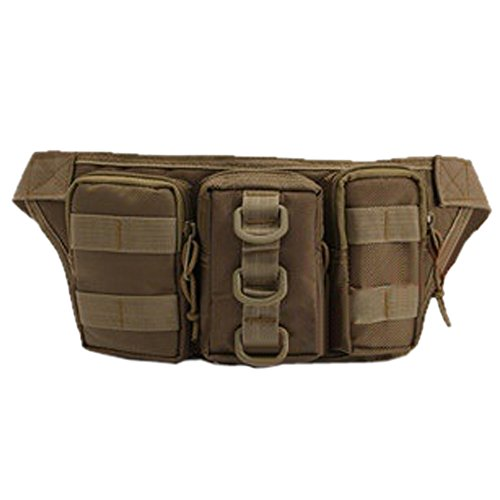 Ezyoutdoor Ourdoor Sports Waist Bag zipper Fanny Chest Pack with Cell Phone Pouch & Automatic Umbrella & Small Personal Stuffs for Both Men and Women Use khaki (I Am Pole And So Can You compare prices)