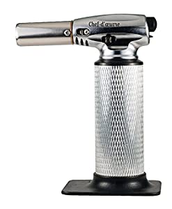 CULINARY TORCH - Best Kitchen Cooking Torch - Food Torch - Chef Torch For Creme Brulee Dessert - Hand Blow Torch To Sear Melt Caramelize Dining Recipes - BBQ Flame Lighter - Refillable Butane Gas ... by Keen Smart