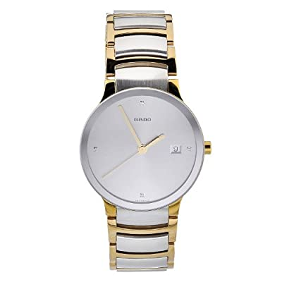 Rado Men's R30931713 Quartz Stainless Steel Silver Dial Watch