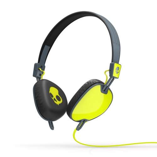 Skullcandy Navigator On-Ear Audio Headphones with Mic - Hot Green/Grey Black Friday & Cyber Monday 2014
