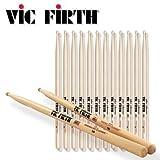 (12 Pair) 5A Drum Sticks - American Classic ? VIC FIRTH (Tamaño: 5A)