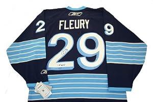Marc Andre Fleury Autographed Premier Winter Classic Jersey w/ JSA COA