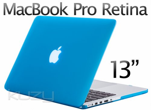 >>  Kuzy - Retina 13-Inch AQUA BLUE Rubberized Hard Case for MacBook Pro 13.3