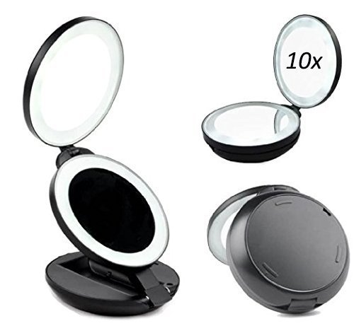 Alierkin espejos de maquillaje 1x 10x aumento espejos - Espejo de viaje ...