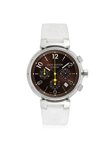 Louis Vuitton Men's Pre-Owned Tambour Brown/White Rubber Watch