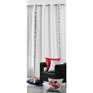 rideau oeillet london blanc deco londres. Black Bedroom Furniture Sets. Home Design Ideas