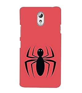 Vizagbeats Black Spider Back Case Cover for Lenovo Vibe P1m