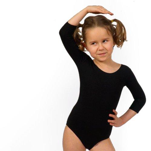 Shepa Mädchen Ballett Trikot 3/4 Arm Gymnastikanzug Ballettanzug Turnanzug