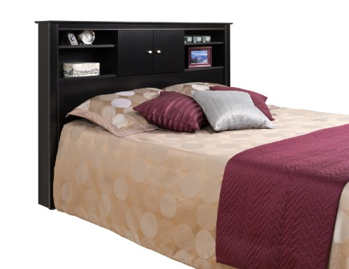 Prepac Black Kallisto Bookcase Headboard With Doors