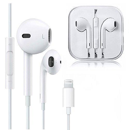 MUXITEK Earbuds, Microphone Earphones Stereo Headphones Noise Isolating Headset Compatible with iPhone X/XS/XS Max/XR/8/8 Plus/7/7 Plus Earphones (Whi