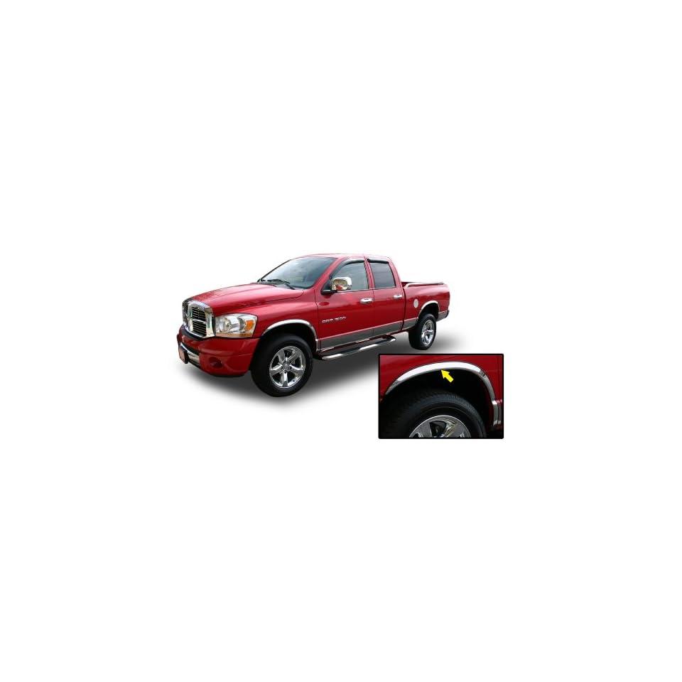 02 08 DODGE RAM CHROME FENDER TRIM Wheel Well Moulding 2WD