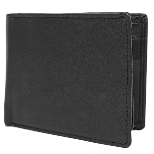 Geoffrey Beene Mens Leather BiFold Passcase Wallet