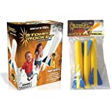 Stomp Rocket Junior Glow Kit with Extra Jr. Glow Rocket Refills (Blue)