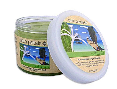 Bath Petals Naturals  Thai Lemongrass Ginger Salt Scrub, 20 oz. (567 g)