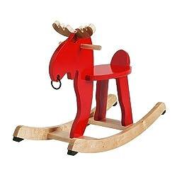 Smland Bna IKEA- EKORRE Rocking moose, red, rubberwood