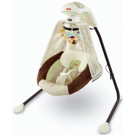 Fisher-Price - Starlight Papasan Cradle Swing, Nite Nite Monkey (Fisher Price Papasan Swing compare prices)