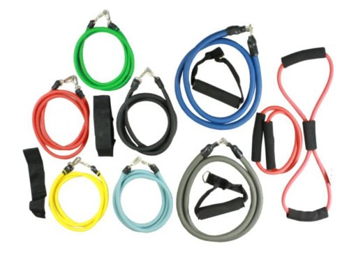 Wacces 16 Pc Resistance Bands For P90x Or Any Fitness