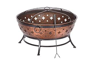 Living accents noma fire pit copper fire for Amazon prime fire pit
