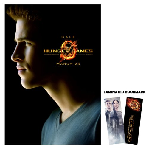 "The Hunger Games (2012) Gale Hawthorne Liam Hemsworth 13"" x 19"" Borderlesss Movie Poster + Laminated Bookmark"