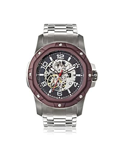Invicta Men's 16124 Specialty Mechanical Silver/Brown Stainless Steel Watch