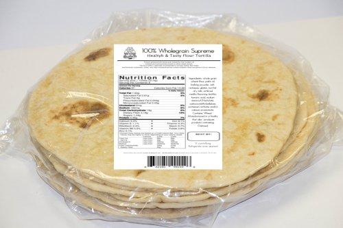 100% Wholegrain, Healthy & Tasty Flour Tortillas, (8-Counts/ Bag 300 Gr)
