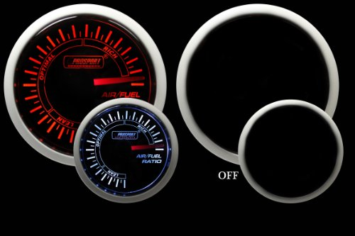 Air Fuel Ratio Gauge- Electrical Amber/white Performance Series 52mm (2 1/16