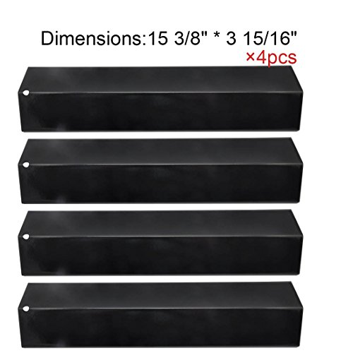 92311(4-Pack) BBQ Gas Grill Heat Plate Porcelain Steel Heat Shield For Mcm, Grill King, Aussie, Charmglow, Brinkmann, Uniflame, Lowes Model Grills