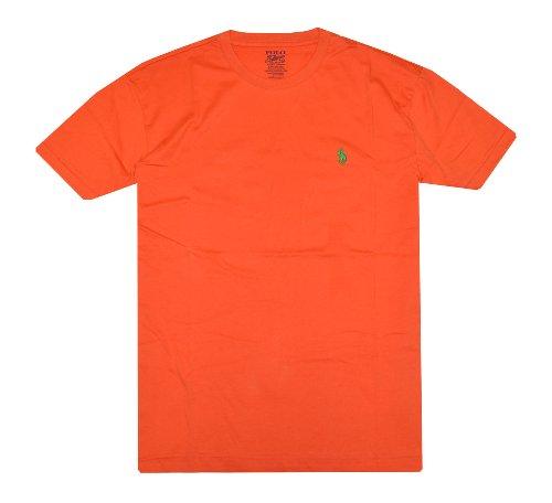 Polo Ralph Lauren Men Pony Logo T-Shirt (L, Orange)