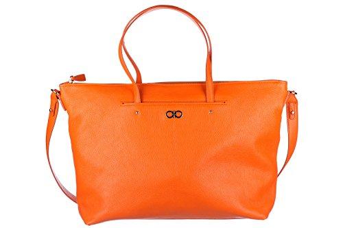 Salvatore Ferragamo borsa donna a mano shopping tote in pelle nuova mika gancini